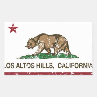 California Republic Flag Los Altos Hills Rectangular Sticker