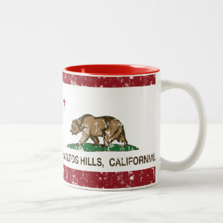 California Republic Flag Los Altos Hills Two-Tone Coffee Mug