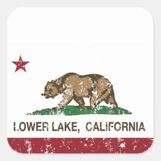 California Republic Flag Lower Lake Square Sticker