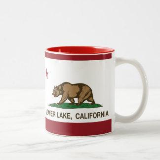California Republic Flag Lower Lake Two-Tone Coffee Mug