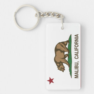California Republic Flag Malibu Keychain