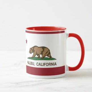 California Republic Flag Malibu Mug