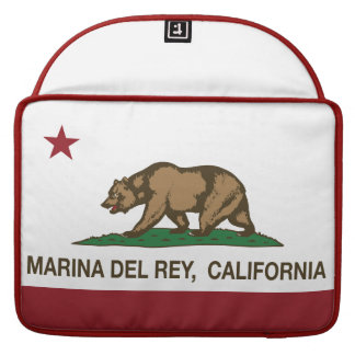 California Republic Flag Marina Del Rey Sleeve For MacBooks