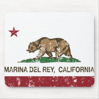 California Republic Flag Marina Del Rey Mouse Pad