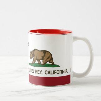 California Republic Flag Marina Del Rey Mug