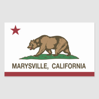 California Republic Flag Marysville Rectangular Sticker