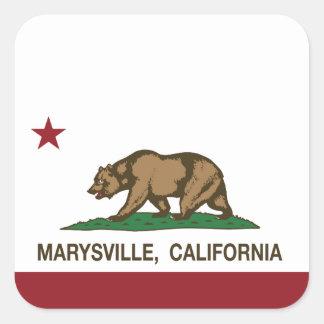 California Republic Flag Marysville Square Sticker