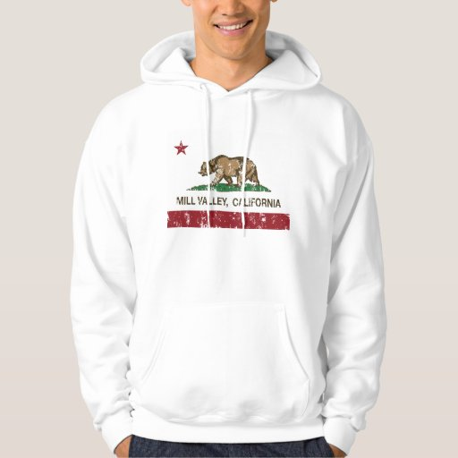 California Republic Flag Mill Valley Hooded Sweatshirts