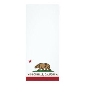 California Republic Flag Mission Hills 4x9.25 Paper Invitation Card