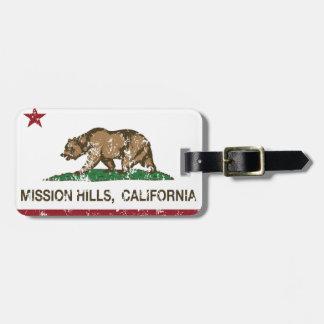 California Republic Flag Mission Hills Bag Tag