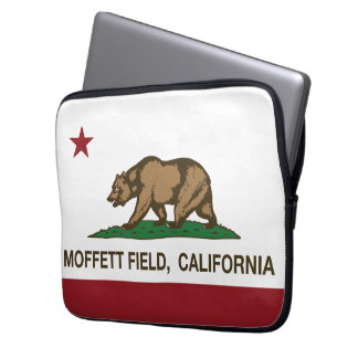 California Republic Flag Moffett Field Computer Sleeve