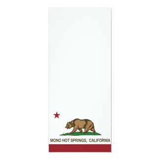 California Republic Flag Mono Hot Springs Card