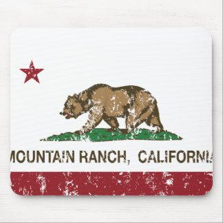 California REpublic Flag Mountain Ranch Mouse Pad