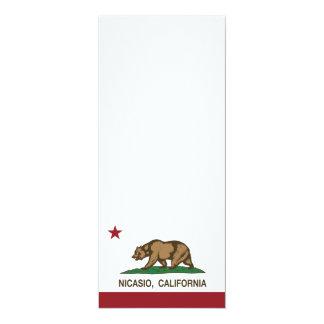 California Republic Flag Nicasio 4x9.25 Paper Invitation Card