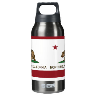 California Republic Flag North Hollywood Insulated Water Bottle