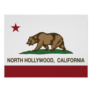 California Republic Flag North Hollywood Posters