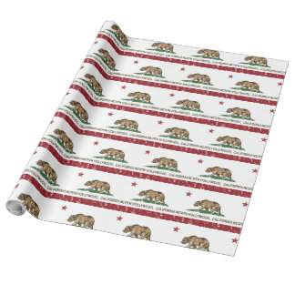 California Republic Flag North Hollywood Wrapping Paper