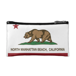 California Republic Flag North Manhattan Beach Cosmetic Bag