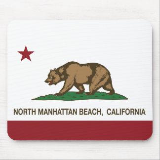 California Republic Flag North Manhattan Beach Mouse Pad