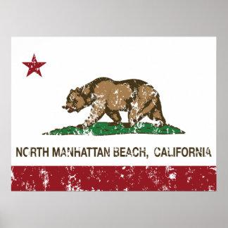 California Republic Flag North Manhattan Beach Poster
