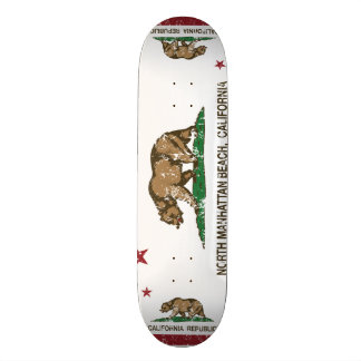 California Republic Flag North Manhattan Beach Skateboard