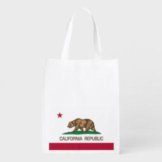 California Republic (Flag of California) Reusable Grocery Bags