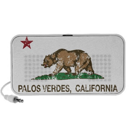California Republic Flag Palos Verdes Laptop Speakers