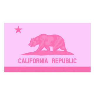 California Republic Flag (Pink) Business Card