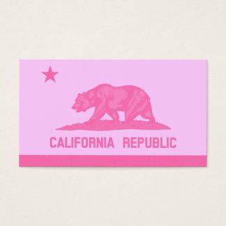 California Republic Flag (Pink) Business Card