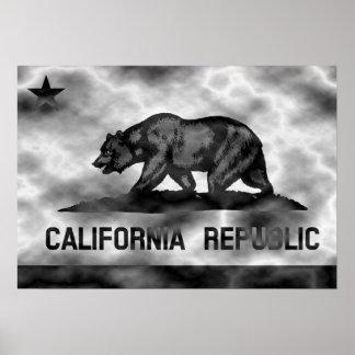 California Republic Flag Plasma Poster