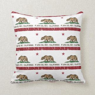 California Republic Flag Playa Del Rey Throw Pillows