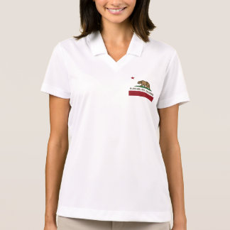 California Republic Flag Playa Del Rey Polo Shirt