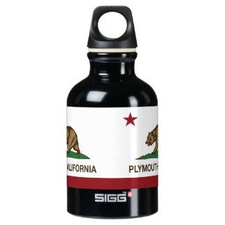 California Republic Flag Plymouth Water Bottle