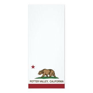 California Republic Flag Potter Valley 4x9.25 Paper Invitation Card