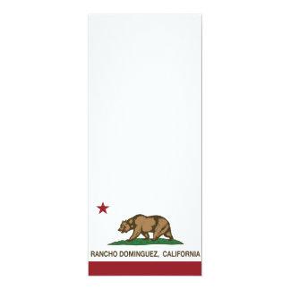California Republic Flag  Rancho Dominguez Card