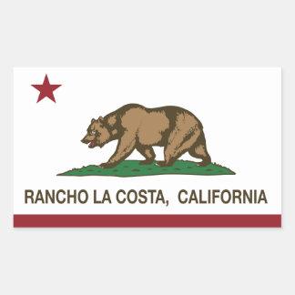 California Republic Flag Rancho La Costa Rectangular Sticker