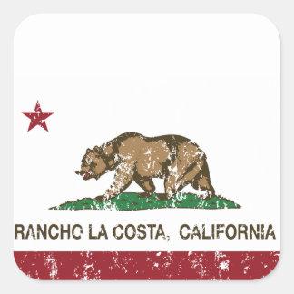 California Republic Flag Rancho La Costa Square Sticker