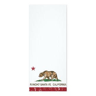 California Republic Flag Rancho Santa Fe Card