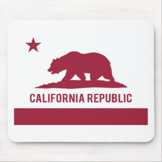 California Republic Flag - Red Mouse Pad
