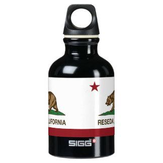 California Republic Flag Reseda Aluminum Water Bottle