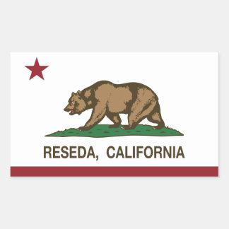 California Republic Flag Reseda Rectangular Sticker