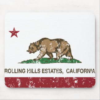 California Republic Flag Rolling Hills Estates Mouse Pad