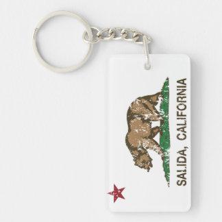 California Republic Flag Salida Double-Sided Rectangular Acrylic Keychain