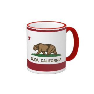California Republic Flag Salida Ringer Coffee Mug