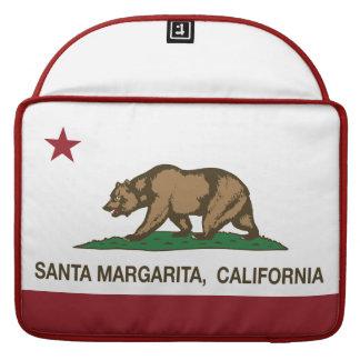 California Republic Flag Santa Margarita Sleeve For MacBooks