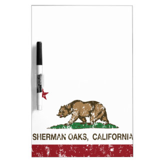 California Republic Flag Sherman Oaks Dry Erase Board