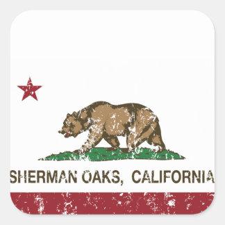 California Republic Flag Sherman Oaks Square Sticker