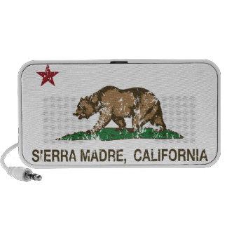 California Republic Flag Sierra Madre Travelling Speakers