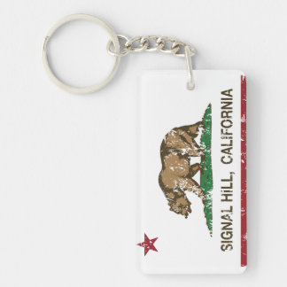 California Republic Flag Signal Hill Keychain