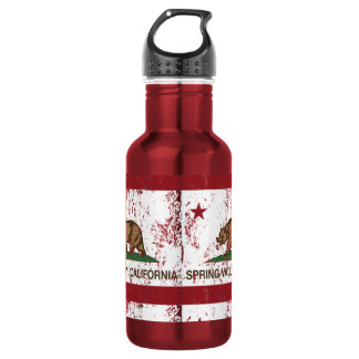 California Republic Flag Spring Valley Water Bottle